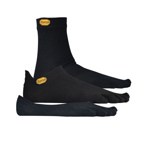 Vibram 5TOE Sock Crew-No Show-Ghost 3 Pack
