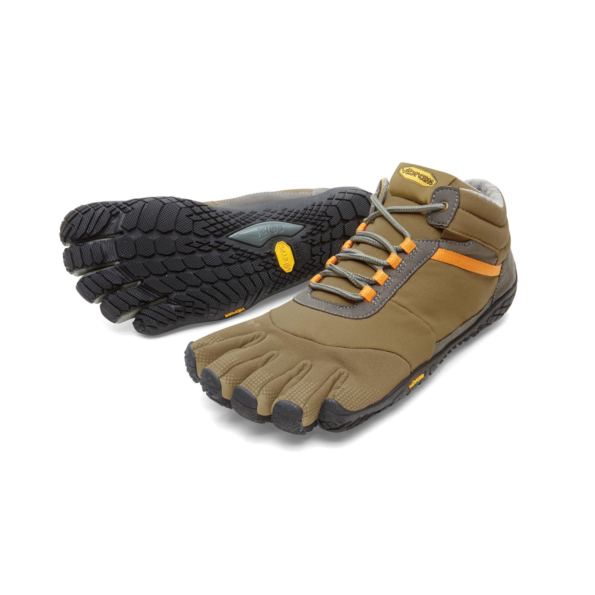 Trek Ascent Insulated, Shoes Homme - Khaki/Orange, 45 EUVibram Fivefingers